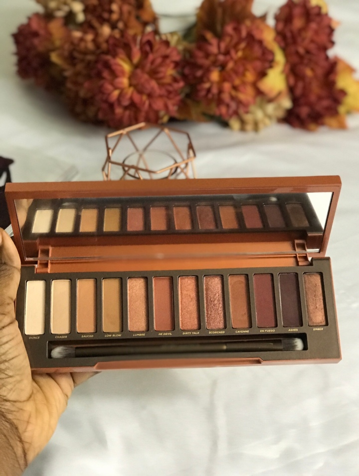 Urban Decay Naked Heat Palette Review + Swatch On Dark Skin